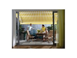 Luxaflex sun and rain awnings available from Abesco Blinds and Awnings