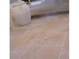 MMA Mocha Tumbled French Pattern Travertine from Aeria Country Floors