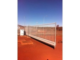 Major Australian mining site secured with Magnetic modular cantilever sliding gates