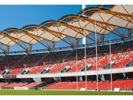 MakMax PTFE glass fibre architectural membrane roofing installed at Metricon Stadium in Queensland