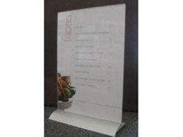Menu holders from Stanton Creative Group