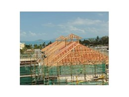 MiTek roofing products used in commercial timber prefabrication