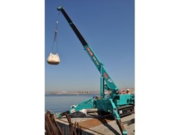 Mini crawler crane from Kennards Lift & Shift ideal for Port Botany project