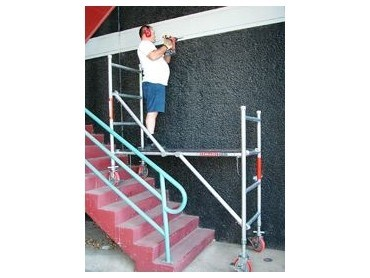 Mini scaffold for stairs from kennards architecture and - Exterior scaffolding rental near me ...