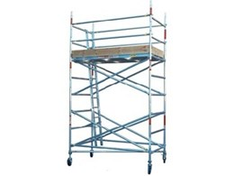 Mobile aluminium scaffold towers available for rental from Advance Scaffold