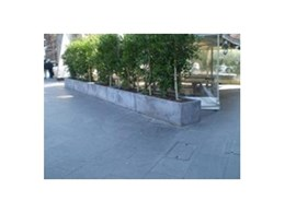 Moodie Outdoor Products concrete planters used for alfresco protection