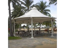 Moodie Outdoor Products offer Ausafe hexagonal shade systems