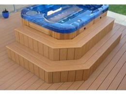 Moroccan Cedar Passport PVC decking from Composite Materials Australia used for spa installation