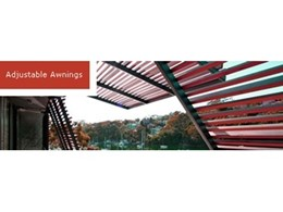 Motorised adjustable awnings by Record Automated Doors
