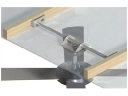 Mounting brace for ceiling fan installation available from Hunter Pacific