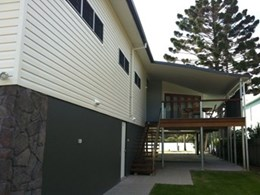 Nambucca Heads house includes vinyl cladding and stone from Austech