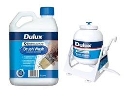 New Dulux EnviroSolutions Brush Wash and Brush Cleaner save time, resources and the environment