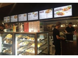 New Fasta Pasta restaurant features digital menu boards from Just Digital Signage