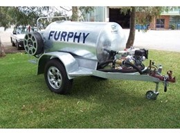 New Furphy heavy duty water cart features Aussie Fire Chief fire pump