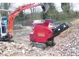 New Kennards mini crusher recycles building waste on site