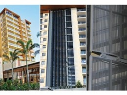 New Shutterflex Perforated Ellipse sun control systems used in Mon Komo development project