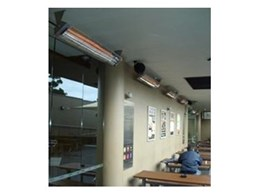 New generation electric outdoor radiant heaters from Alfresco Spaces installed in the Gymea Hotel