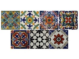 New handmade and hand painted Mexican tiles