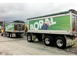 New look Boral heavy duty trucks feature new branding