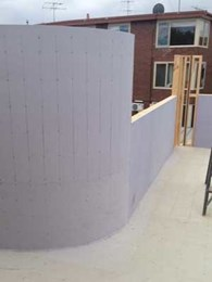 MultiPanel's waterproof building panels used for balcony substrate and balustrading at St Kilda project