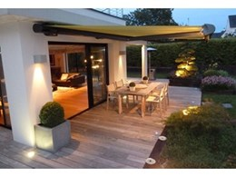 Outdoor entertaining sounds good with Markilux 6000 awnings