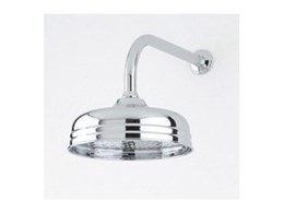 Overhead shower heads by Perrin & Rowe available from The English Tapware Company