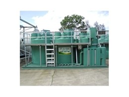 Ozzi Kleen SK20 transportable sewage treatment plant used at mobile mining camps