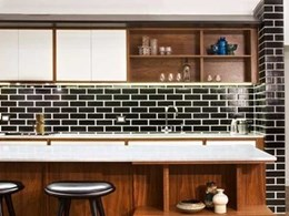 PGH Academy glazed bricks used on feature wall in award winning apartment makeover