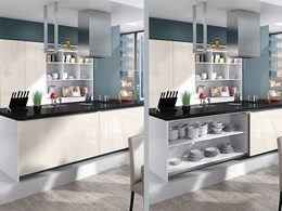 InLine S sliding door fitting from Hettich for small cabinets