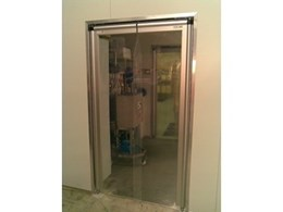 PVC swing doors for high traffic areas, from DMF International