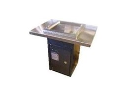 Pedestal mounted electric push button BBQ's from Moodie Outdoor Products