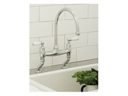 Perrin & Rowe traditional bridge style kitchen taps from The English Tapware Company