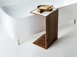 Pirch handcrafted bath bridge and side table