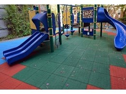 Playflex Royal safety tiles at Chinese International School, Hong Kong