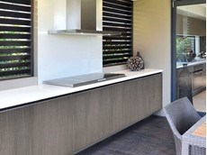 Polytec's Alfresco cabinet doors for outdoor kitchens