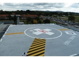 Polyurethane coating provides waterproofing and protection to Orange Base Hospital helipad
