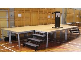 Portable staging modules for school, studio and theatre, from STE Australia