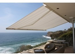 Private residence on Sydney's northern beaches features Helioshade articulated arm awning