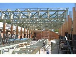 Pryda trusses ideal for covered courtyard