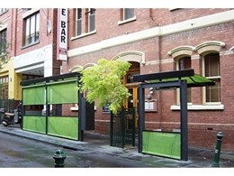Punch Lane Wine Bar installs sunshades for outdoor dining area