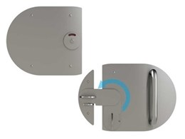 Pureablue fit-for-purpose door latch addresses public restroom privacy issues