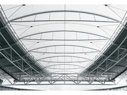Queensland Tennis Centre court roof built with PTFE glass fibre fabric from MakMax Australia