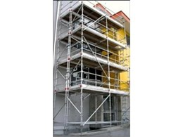 G james trestle safety system available architecture and - Exterior scaffolding rental near me ...