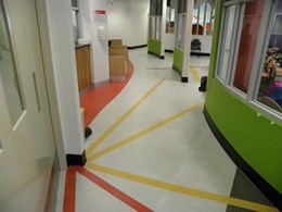 Quiet Artigo rubber flooring suits healthcare and aged care facilities