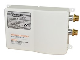 RBA launches new Chronomite tankless electric water heaters