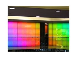 RGB DMX panels from Coolon LED Lighting add colour to commercial interior lighting