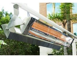 Radiant outdoor heaters from Alfresco Spaces