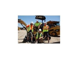 Reality show KingGee Jack Of All Trades uses Caterpillar Cat compact machines available from Westrac