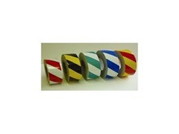 Reflective hazard stripe tapes from Floorsafe International