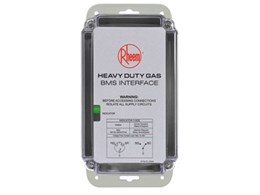 Rheem new heavy duty gas BMS interface providing real time water heater status remotely